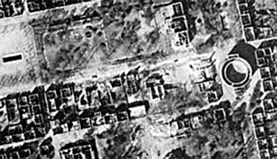 Zerstörung des Logentempels durch Luftangriff auf Darmstadt